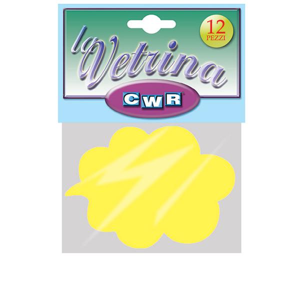 Segnaprezzi Nuvola - 11x15,5 cm - giallo - CWR - conf. 12 pezzi