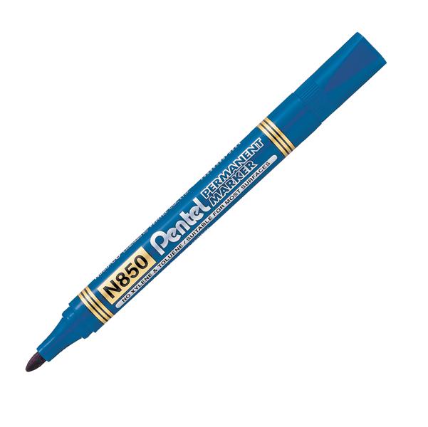 Marcatore Permanent Marker N850 Llinea Amiko - punta conica 4,50mm - blu - Amiko