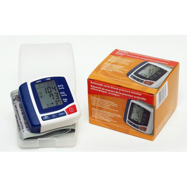 Sfigmomanometro digitale da polso - 7x7,2x2,7 cm - bianco/grigio - PVS