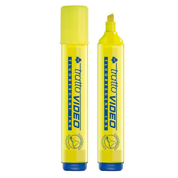 Evidenziatore Tratto Video - giallo - punta a scalpello - tratto da 1,0 a 5,0mm - Tratto