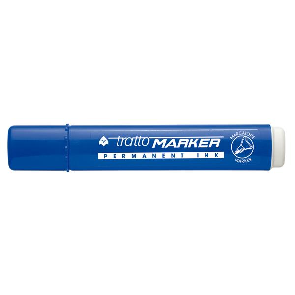 Marcatore permanente Marker - punta tonda - tratto 2,50mm - blu - Tratto