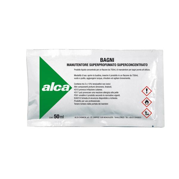 Manutentore Bagni Linea Monodose - superprofumato - Alca - bustina da 50 ml