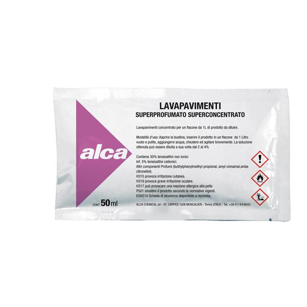 Lavapavimenti Linea Monodose - superprofumato - Alca - bustina da 50 ml