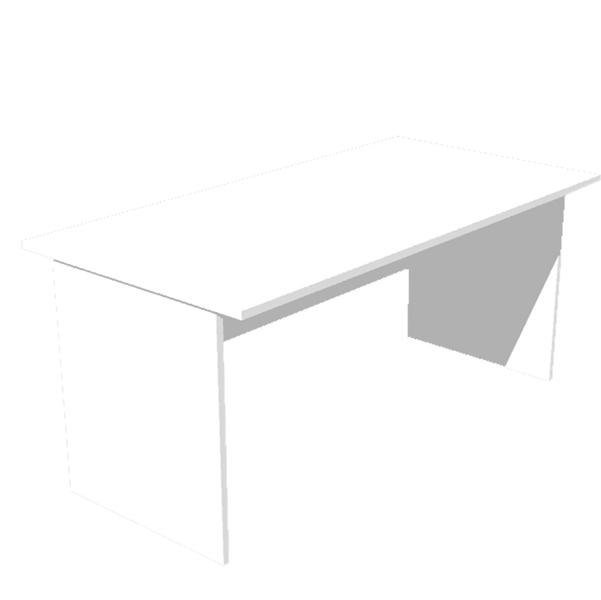 Scrivania Easy - lineare - 80x80cm - bianco - Artexport