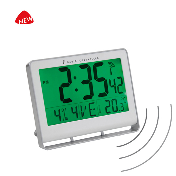 Orologio digitale LCD - 20x15x3 cm - bianco - Alba