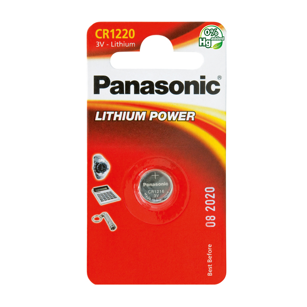 Micropila CR1220 - litio - Panasonic - blister 1 pezzo