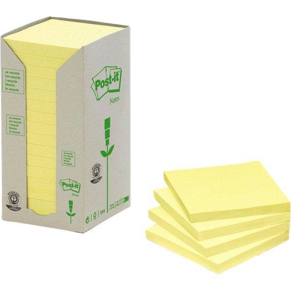 Foglietti Post-it  in carta riciclata giallo