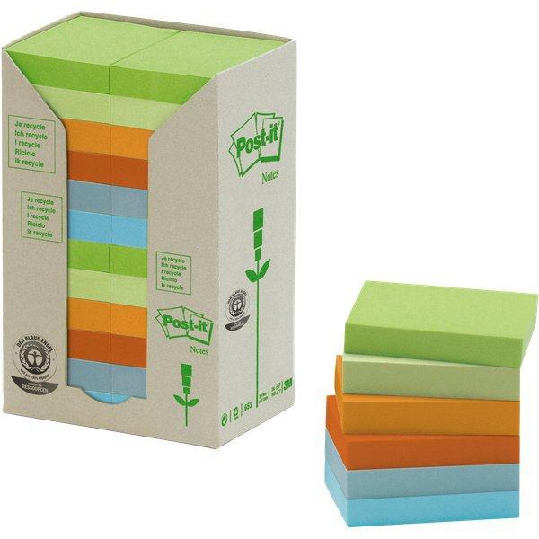 Foglietti Post-it   in carta riciclata pastello