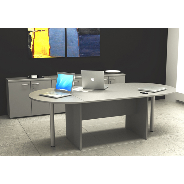 Tavolo riunione Easy - 6 posti - 220x110cm - H72cm - grigio - Artexport