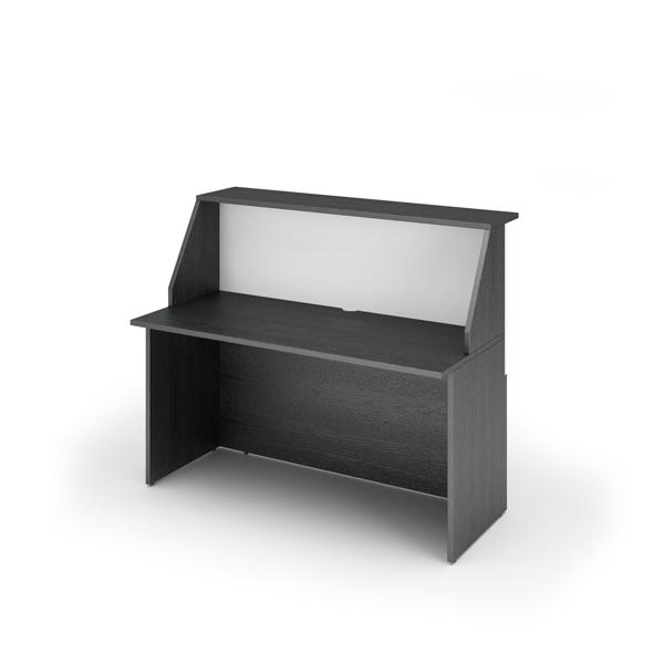 Modulo Prestige reception sopralzo/desktop - 140x76,1x117 cm - nero venato/bianco - Artexport