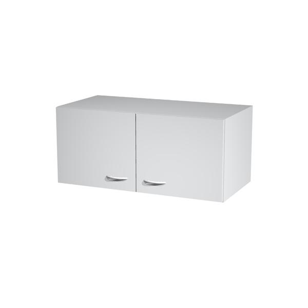 Sopralzo per armadi modulari - a 2 ante - 90x45,8x40 cm - grigio - Artexport