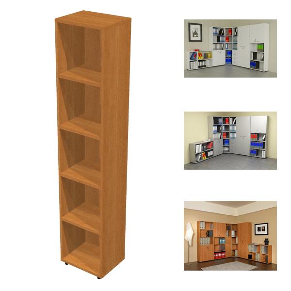 Libreria modulare alta - a giorno - 40x32cm - H196cm - grigio - Artexport