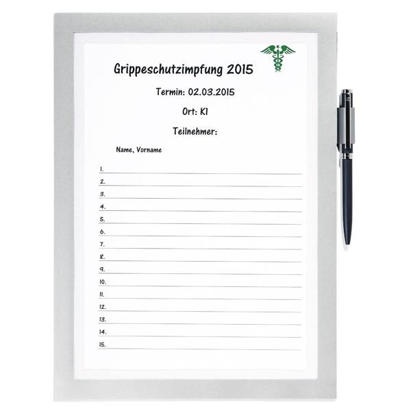 Cornice adesiva Duraframe® Note A4 - pannello magnetico - 21x29.7 cm - argento - Durable