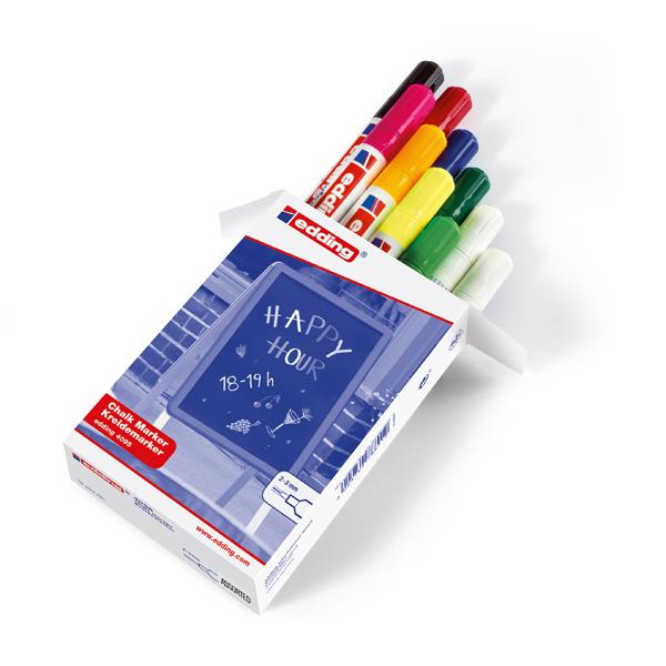 Marcatore Edding 4095 - punta tonda da 2,00-3,00mm - 10 colori assortiti - Edding