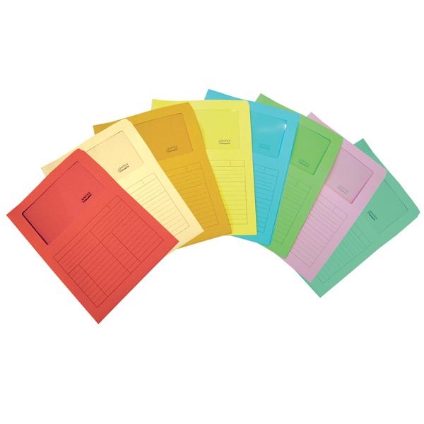 Cartelline a L con finestra Sintex - cartoncino 115 g - avorio - Blasetti - conf. 50 pezzi