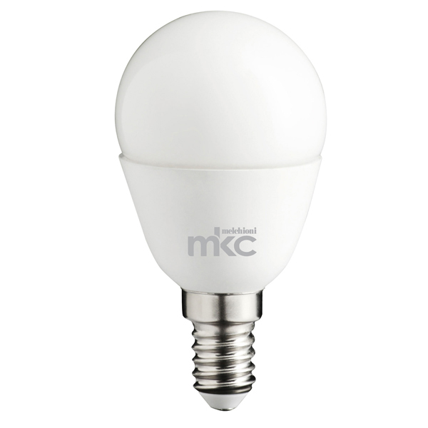 Lampada - Led - minisfera - 5,5W - E14 - 6000K - luce bianca fredda - MKC