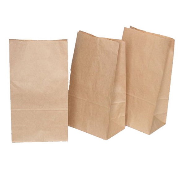Sacchetti avana - carta kraft - 8x16 cm - soffietti laterali 2.5 cm - Sadoch - conf. 100 buste