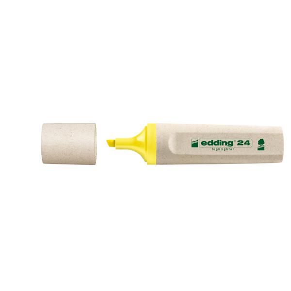 Evidenziatore 24 EcoLine - punta a scalpello - tratto da 2,0-5,0mm  - giallo - Edding