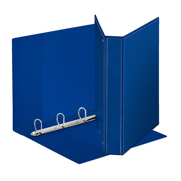 Raccoglitore personalizzabile Display - 4 anelli a D 30 mm - dorso 4,7 cm - 22x30 cm - blu - Esselte