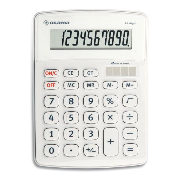 Calcolatrice da tavolo OS 502 - 10 cifre - bianco - Osama