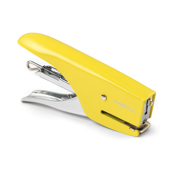 Blister Mini cucitrice M013 + punti passo 10 - giallo - Kartia
