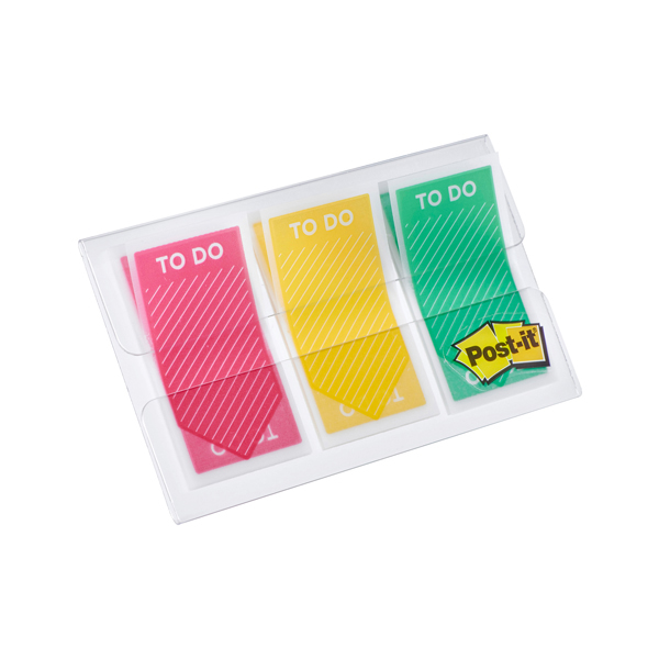 Segnapagina Post it® Index Medium TO DO - 23,8x43,2 mm - 3 colori assortiti - Post it® - conf. 60 pezzi