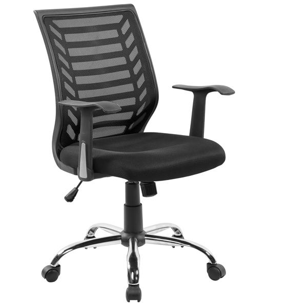 Seduta operativa Miami - con braccioli - schienale in rete nero/seduta nero - Serena Group