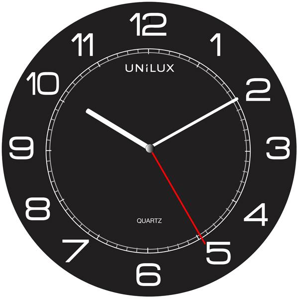 Orologio da parete Mega - diametro 57,5 cm - nero - Unilux