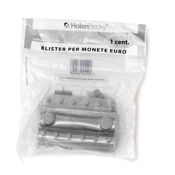 Portamonete - PVC - 1 cent - trasparente - HolenBecky - blister 20 pezzi