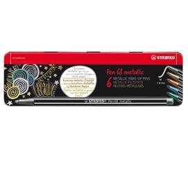 Pennarelli 68 metallic - punta1,40mm - Stabilo - scatola 6 pezzi