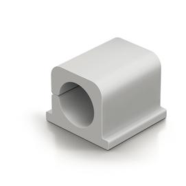 Clip Cavoline® PRO fermacavi - adesiva - per 2 cavi - grigio - Durable - conf. 4 pezzi
