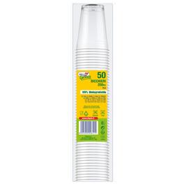 Bicchieri in PLA - 250 ml - trasparente - Dopla Green - conf. 50 pezzi