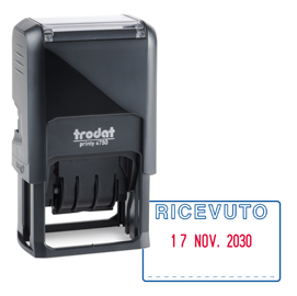 865ac51184 1PZ Timbro Printy 4.0 - 41x24mm - datario+ricevuto - Trodat ...