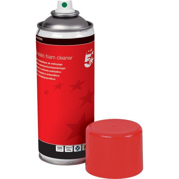 Schiuma detergente antistatica