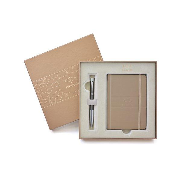 Confezione regalo Ebony Metal Chiselled e notebook