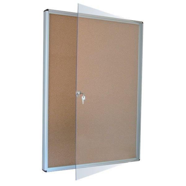 Bacheca in sughero con serratura per interni 5 star 4xa4 - Prato verticale per interni ...