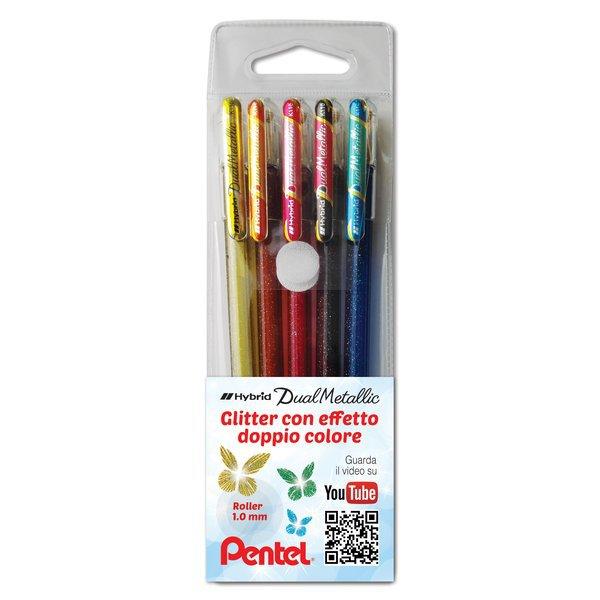 Penna gel Hybrid Dual Metallic