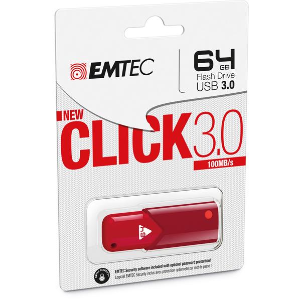 Emtec - USB 3.0 - B100 - 64 GB - rosso