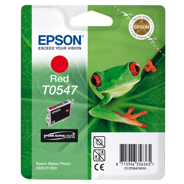 Epson - cartuccia - C13T05474010 - rosso, Stylus photo r800, r1800, blister RS