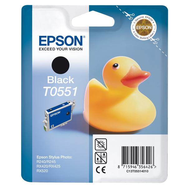 Epson - cartuccia - C13T05514010 - nero, Stylus photo r240, rx420/425, r245, blister RS