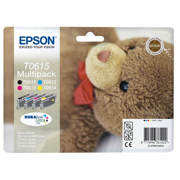Epson - Multipack Cartuccia ink - C/M/Y/K - C13T06154010 - 8ml cad