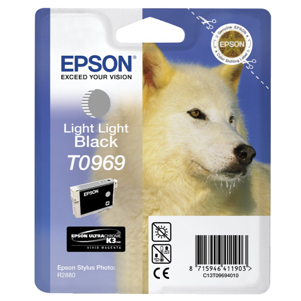Epson - cartuccia - C13T09694010 - inchiostro a pigmenti, nero light light, Ultrachrome k3, blister RS