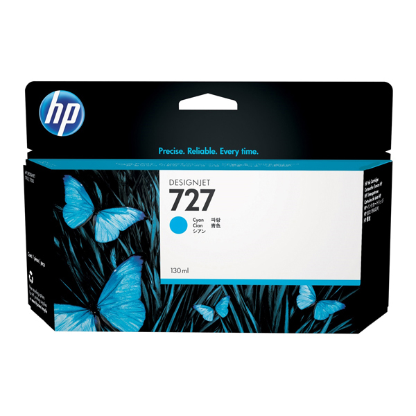 HP - cartuccia - B3P19A - n. 727, da 130ml, ciano