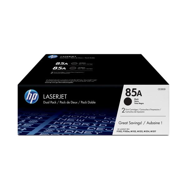 HP - cartucce - CE285AD - Laserjet n. 85a - conf. 2 cartucce