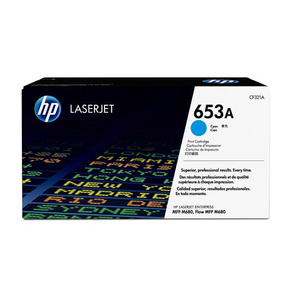 HP - toner - CF321A - n. 653a, cartridge ciano, Laserjet