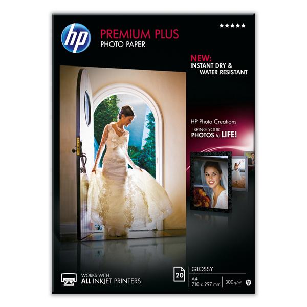 Hp - Confezione da 20 Fogli Carta fotografica Hp Premium Plus, lucida A4/210 x 297 mm - CR672A