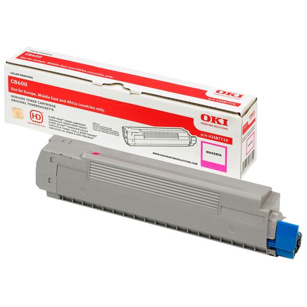 Oki - toner - 43487710 - magenta per c8600