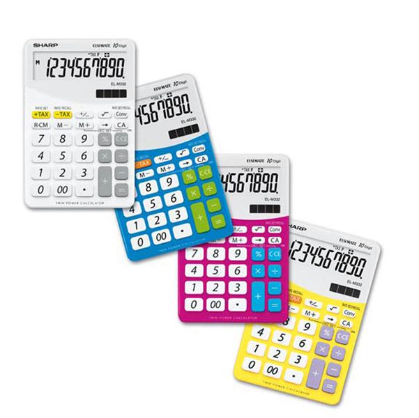 Sharp - Calcolatrice - da tavolo - rosa - EL M332B - 10 cifre
