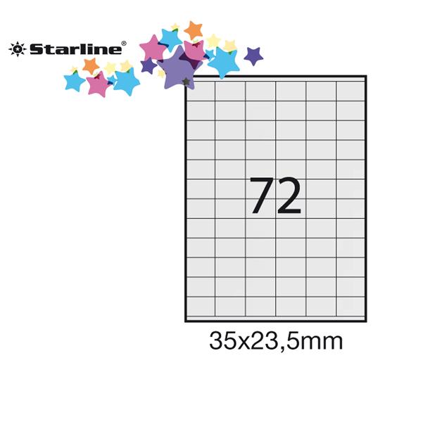 4000 Etichette adesive in fogli A4 Dimensione 52.5x29.7 mm 100 fogli