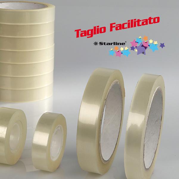 Nastro adesivo - 19 mm x 33 mt - trasparente - Starline - torre 8 rotoli